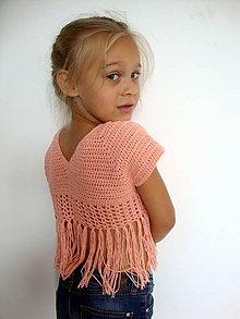 Detské oblečenie - Crop top SUMMER - ZĽAVA - 9683742_