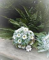 Dekorácie - Gratulačná kytica z margarét k 20-tke, 30-tke.... - 9683669_