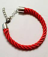 Náramky - červený náramok - 9684593_