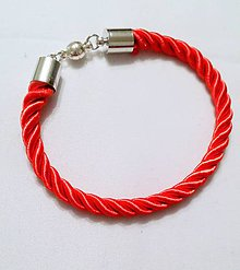 Náramky - červený náramok - 9684582_