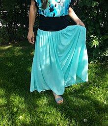 Sukne - Letná sukňa tyrkys - 9685544_