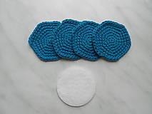Úžitkový textil - Odličovacie tampóny (Tyrkysová) - 9684417_