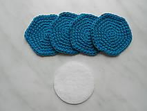 Úžitkový textil - Odličovacie tampóny (Tyrkysová) - 9684418_