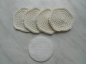 Úžitkový textil - Odličovacie tampóny (Biela) - 9684394_