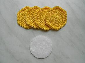 Úžitkový textil - Odličovacie tampóny (Žltá) - 9684395_