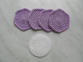 Úžitkový textil - Odličovacie tampóny (Fialová) - 9684411_