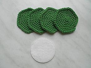 Úžitkový textil - Odličovacie tampóny (Zelená) - 9684428_