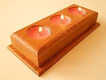 Svietidlá a sviečky - Dubový svietnik (Oak candle holder) - 9683675_