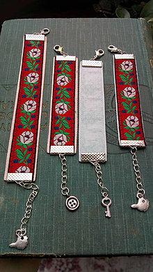 Detské doplnky - Ľudové detské náramky... červené - 9684556_