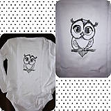 Detské oblečenie - Sovička čiernobiela - 9684346_