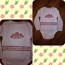 Detské oblečenie - Ľudové detské body - 9685708_