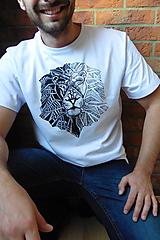Oblečenie - Pánske tričko - Lev - 9684501_