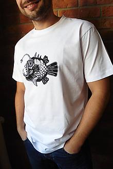 Oblečenie - Pánske tričko - Ryba - 9684807_