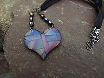 Náhrdelníky - Náhrdelník mozaikové srdce - 9684805_
