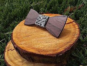 Doplnky - Pánsky drevený motýlik - 9684180_