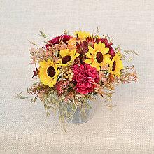 Dekorácie - Letná dekorácia v cínovej nádobke - 9685722_