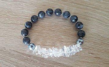 Náramky - Dámsky náramok - labradorit, krištáľ, hematit - 9683211_