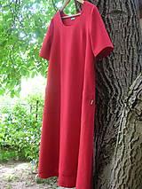 Šaty - Ľanové šaty červené - 9684271_
