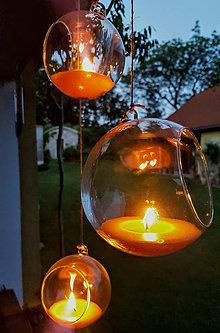 Svietidlá a sviečky - Svíčka ve skle - 9685502_