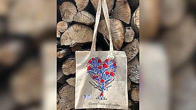 Nákupné tašky - ♥ Plátená, ručne maľovaná taška ♥ (IQ2) - 9683012_
