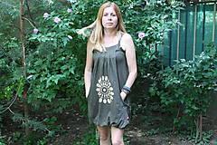 Šaty - Batikované bavlnené šaty Mandala - 9684793_