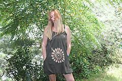 Šaty - Batikované bavlnené šaty Mandala - 9684796_
