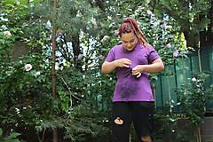 Tričká - Drum and bass batikované tričko - 9685113_