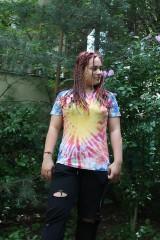 Tričká - Batikované tričko SLNKO - 9685150_