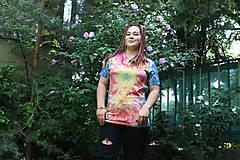 Tričká - Psychedelic batikované tričko UNISEX - 9685274_