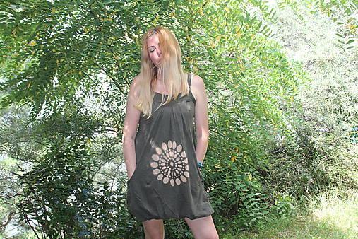 Batikované bavlnené šaty Mandala