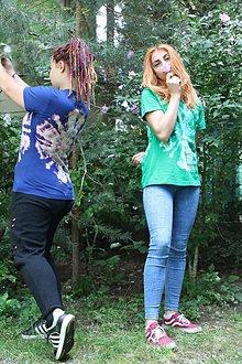 Tričká - Batikované tričko indiánska mandala - 9685072_