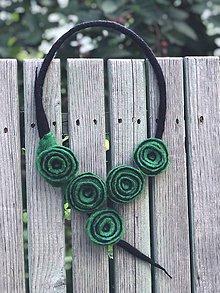 Náhrdelníky - Zelené kruhy - 9682875_