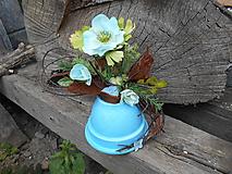 Dekorácie - Dekorácia tyrkysová tŕnistá - 9685269_