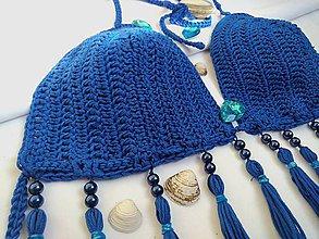 Bielizeň/Plavky - Háčkované plavky OCEAN vrchný diel - 9685509_