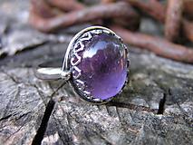 Prstene - Strieborny prsteň Ag925 Ametyst - 9683114_