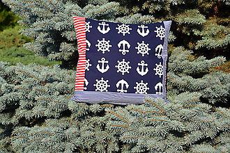 Úžitkový textil - Námornícky vankúšik - 9683868_