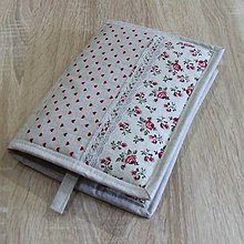 Úžitkový textil - Pre knihomoľov -  Retro ružičky(2) L - 9684382_