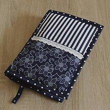 Úžitkový textil - Pre knihomoľov -  Pre knihomoľov - tradičná modrotlač(2) L - 9685107_