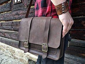 Na notebook - Kožená taška (Crazy Horse) - 9683518_