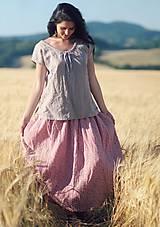 Sukne - Maxi sukně z mušelínu - růžová kytková - 9682965_
