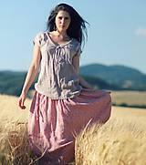 Sukne - Maxi sukně z mušelínu - růžová kytková - 9682966_