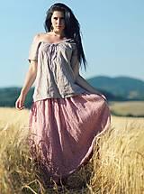 Sukne - Maxi sukně z mušelínu - růžová kytková - 9682969_