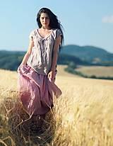 Sukne - Maxi sukně z mušelínu - růžová kytková - 9682970_