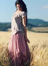 Sukne - Maxi sukně z mušelínu - růžová kytková - 9682994_