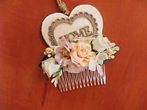 Ozdoby do vlasov - Marhuľkovo ružový hrebienok - 9683454_