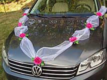 Dekorácie - Výzdoba na auto s veľkými ružami - 9685660_