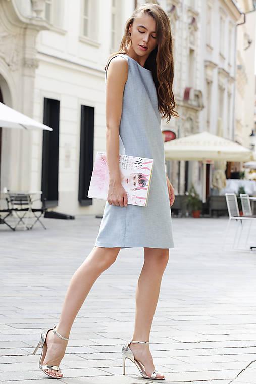 Šaty - Letné denim šaty z vreckami - 9689342_