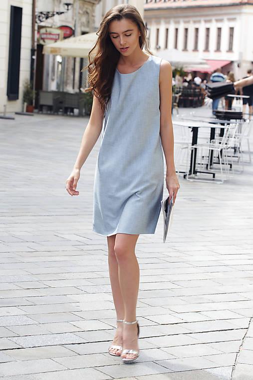 5a34dbffe8f1 Letné denim šaty z vreckami   ceccilia - SAShE.sk - Handmade Šaty