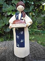 Dekorácie - Šúpolienka s chlebíkom - 9686795_