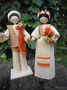 Dekorácie - Šúpolienky svadobný pár - 9687404_